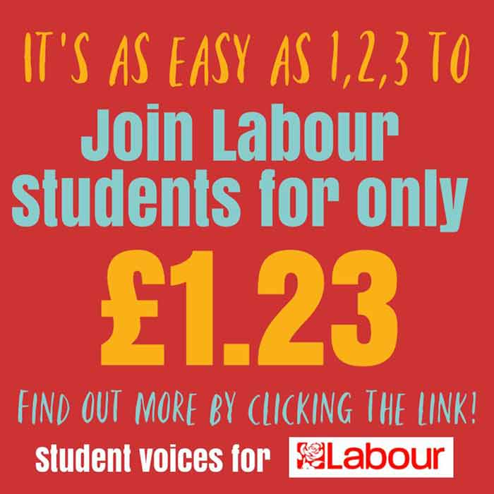 Join Labour Students for just £1.23 per year